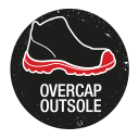 Safety shoes with sole with overcap