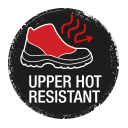 Safety shoes with heat resistant upper